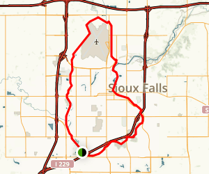 Sioux Falls Bike Trail Loop Map