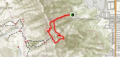 Wyler Aerial Tramway Deck and Ranger Peak Via Directissimo Trail Map