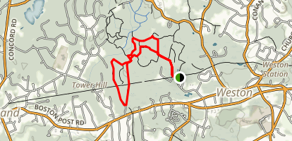 Jericho and Fiske Town Forest Loop Map