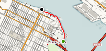 Centennial Park to Tidelands Park -- Coronado Peninsula Map
