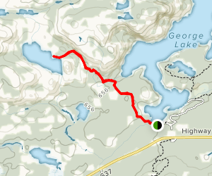Lumsden Lake Trail Map
