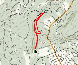 India Brook Yellow, White, and Red Trail Map