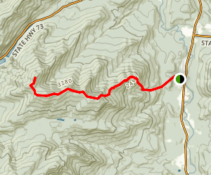Cascade-Porter-Blueberry Hiking Trail Map