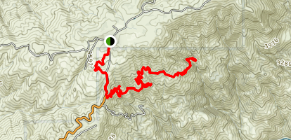 Badger Gap and Little Tenant Spring Trails Map