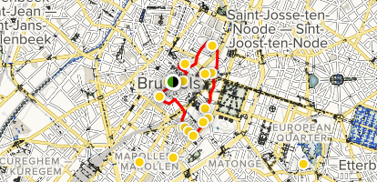 Brussels: A Culture and Arts Tour Map