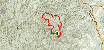 Chestnut Knob Loop Trail Map