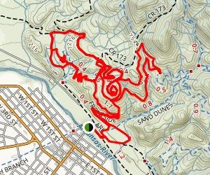 Tenderfoot Hill Trails Map