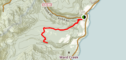Tahoe Rim Trail (TRT): Ward Canyon to Page Meadows Map