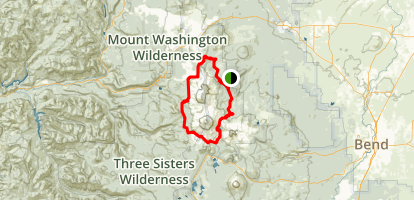 Three Sisters Wilderness Area Trails Map