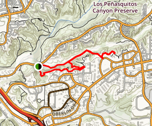 Lopez Canyon Trail To Goat Trail Loop Map