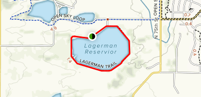 Lagerman Reservoir Trail Map