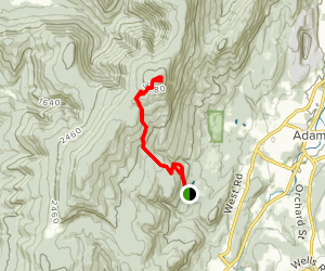 Cheshire Harbor Trail to Mount Greylock Map