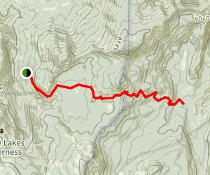 Rowell Trailhead to Comanche Meadows Map