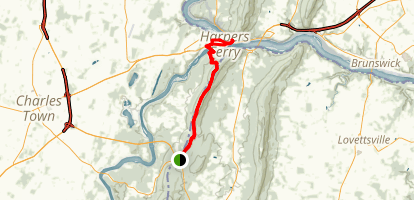 Appalachian Trail: Keys Gap to Harpers Ferry Map