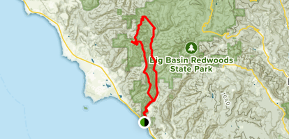 Chalk Mountain Via Skyline to the Sea and Westridge Trails Map