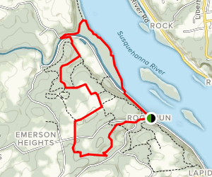 Ivy Branch to Farm Road Trail Loop Map
