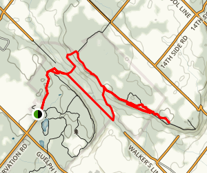Rattlesnake Point and Crawford Lake Map