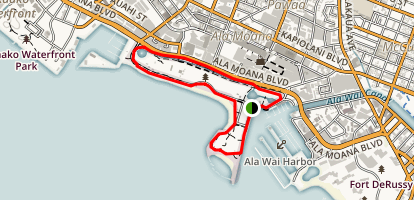 Ala Moana Beach Park and Magic Island Map