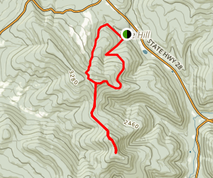 Balsam Mountain Loop Trail Map
