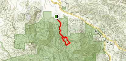 Donner Creek Loop Trail Map