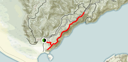 Omanawanui Track to Signal House Track Map