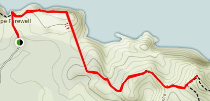 Cape Farewell and Pillar Point Lighthouse Track Map