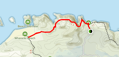 Wharariki Beach Trail Map