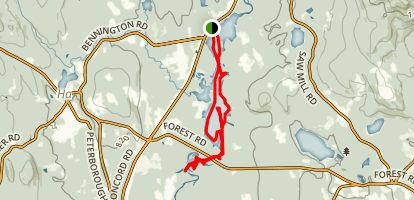 Powder Mill Pond and Contoocook River Map