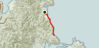 Totaranui Beach Track to Waiharakeke Bay Map