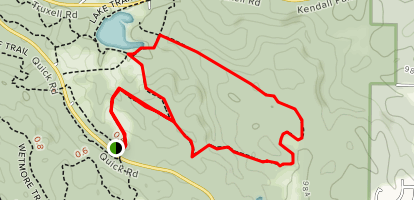 Cross Country Trail from Quick Road Map