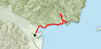 Tinline Campsite and Tinline Bay Map