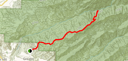 Black Mountain via Valley View, Twin Peaks, and Little Black Mountain Trail Map