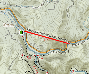 Karangahake Old Rail Tunnel Trail Map