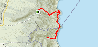 Homunga Bay Track to Wright Falls Map