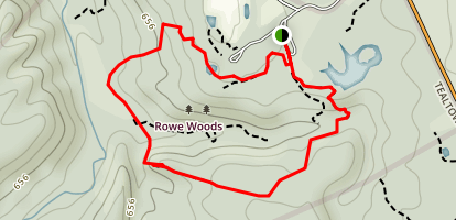 Rowe Woods Trails Map