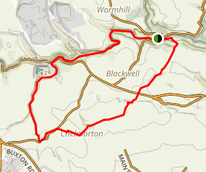 Taddington Moor and Chee Dale Map