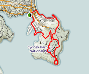 Manly to North Head Loop Map