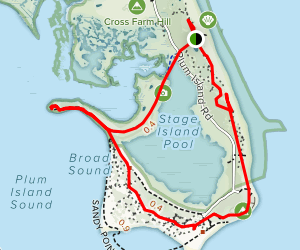 Sandy Point State Reservation Map
