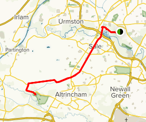Chorlton to Dunham Massey Map