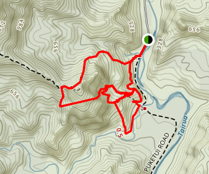 Broken Hills Tracks Map