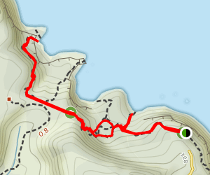Cathedral Cove Loop Map