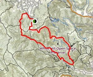 White Hill Loop Trail Map