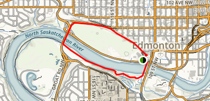 North Saskatchewan River Loop Trail Map