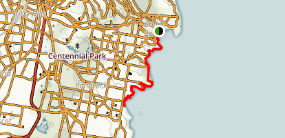 Bondi Beach to Coogee Map