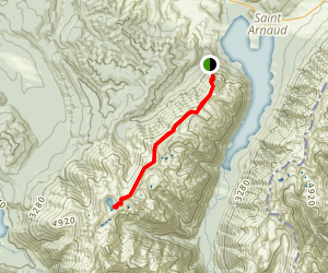 Robert's Ridge Route to Lake Angeuls Map
