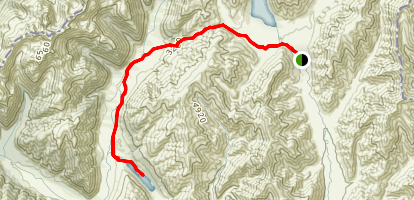 Waiau River Trail to Lake Guyon Map