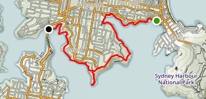Manly to Spit Bridge Walk Map