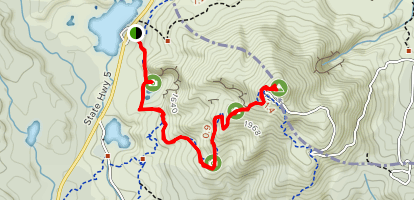 Rainbow Mountain and Crater Lake Track Map