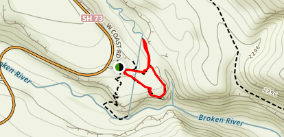 Cave Stream Loop Track Map