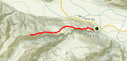 Bealey Spur Track Map